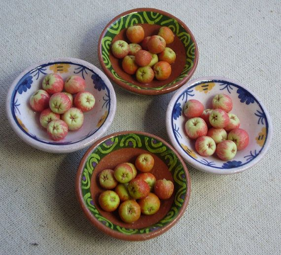 New bowls rustic bowls of eating apples by Abasketof on Etsy