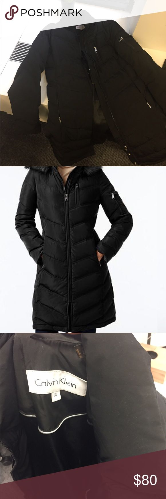 Calvin Klein Water-Resistant Winter Puffer Coat Warm puffer jacket. Fur hood not included. Down/feathers fill. Calvin Klein Jackets & Coats Puffers