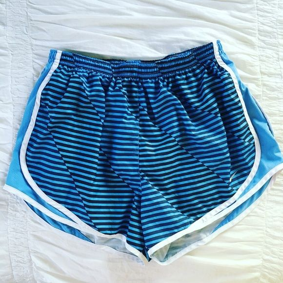 Black & Blue Nike Tempo Shorts Lightly worn Nike tempo shorts with fun pattern. Love them but never wear them. You can see the smallest thread in the last picture. No way noticeable. Make an offer! No trades. Nike Shorts
