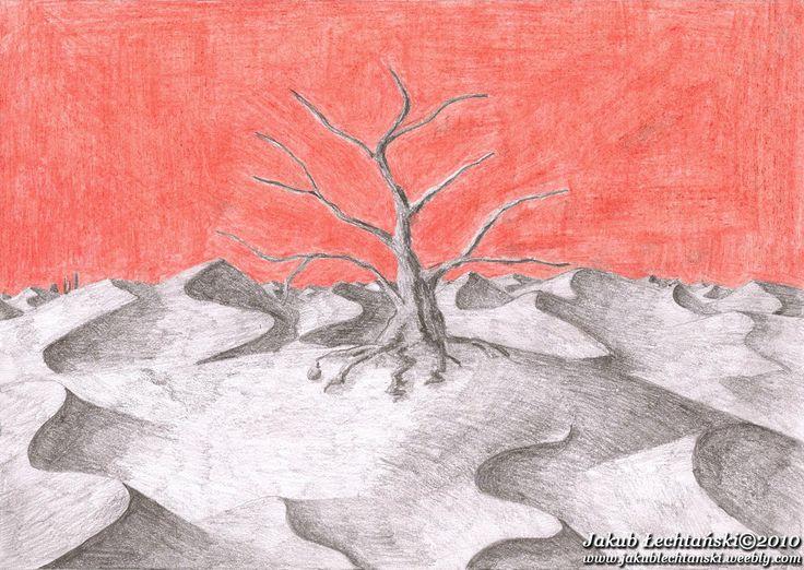 "Rysunek ""Drzewo na pustyni"" 2009. Tree at the desert."