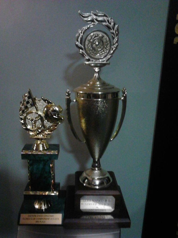 ANTHONY CLARK Team Rebel/Dilligaf racing trophy's 2016 fastest lap eastern states speedway. 2nd overall points champs