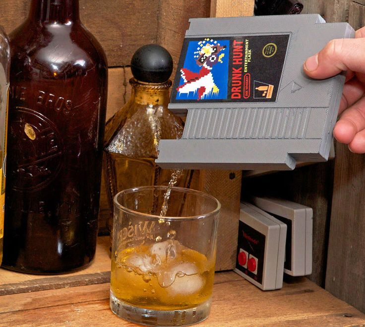 Perfect for the boozing gamer, the NES cartridge flask is a flask that is made to look just like an old school Nintendo game cartridge. The game cartridge flasks went through a successful Kickstarter ...