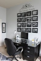 picture wallFamilies Wall, Families Pictures, Photos Wall, Photos Display, Families Photos, Wall Pictures, Home Offices, Pictures Wall, Offices Wall