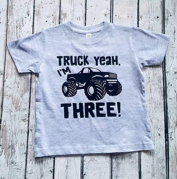 Items Similar To Monster Truck Shirt Truck Shirt Boys Birthday Shirt Three Year Old Monster Trucks Birthday Party Birthday Boy Shirts Monster Truck Birthday
