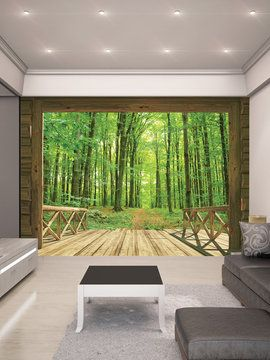 woodland forest wall mural from wall rehab temporary removable wallpaper amp peel amp stick murals
