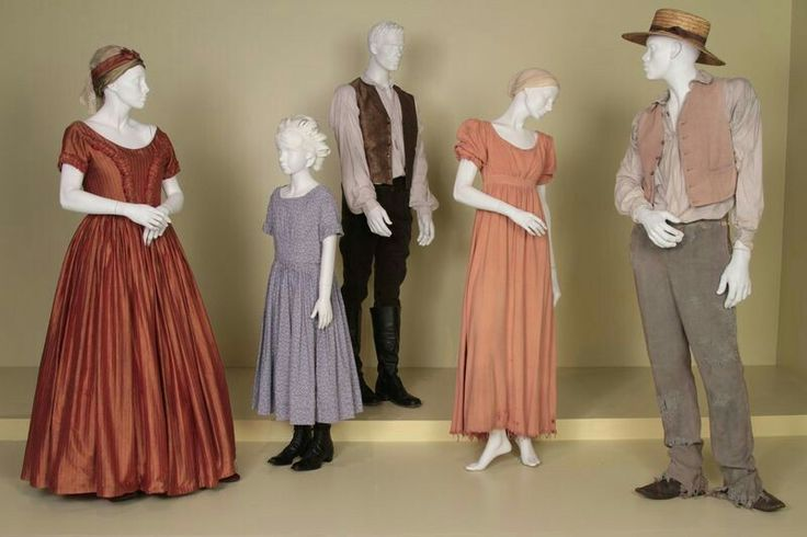 12 Years a Slave costumes by Patricia Norris, 2014 Oscar® Nominee for Costume Design. (L to R) Vivian Fleming-Alvarez as Mulatto Woman, Storm Reid as Emily, Michael Fassbender as Edwin Epps, Lupita Nyong'o as Patsey, Chiwetel Ejiofor as Solomon Northup.