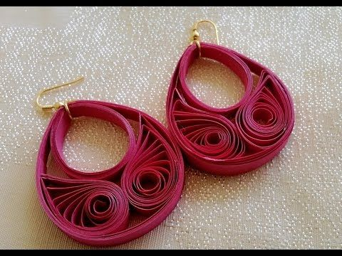 New Model quilling papers earring - Paper earrings making tutorial video - YouTube