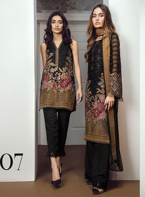 274b5d96d8 Chantelle Enchant 07 | Chantelle Embroidered Chiffon Collection by BAROQUE  in 2019 | Dresses, Pakistani bridal dresses, Batik dress