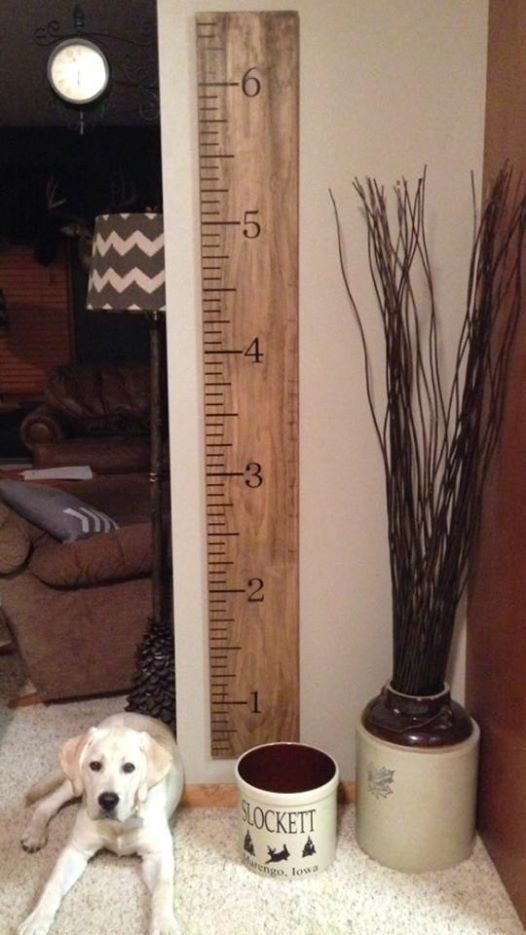 Oversized Ruler Growth Chart  Wooden Ruler by ShelbysBoutiques