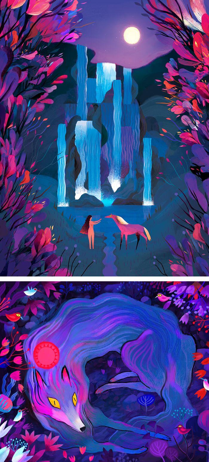 Illustrations by Juliette Oberndorfer #conceptart #conceptillustration #illustration