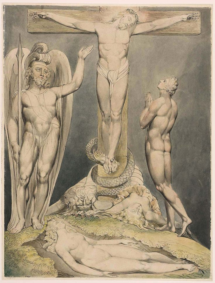 https://flic.kr/p/wjbzrq | Michael Foretelling the Crucifixion to Adam (Illustration to Milton's 'Paradise Lost') | 1808. Pen and watercolor on paper. 50,16 x 38,1 cm. Museum of Fine Arts, Boston. 90.101.