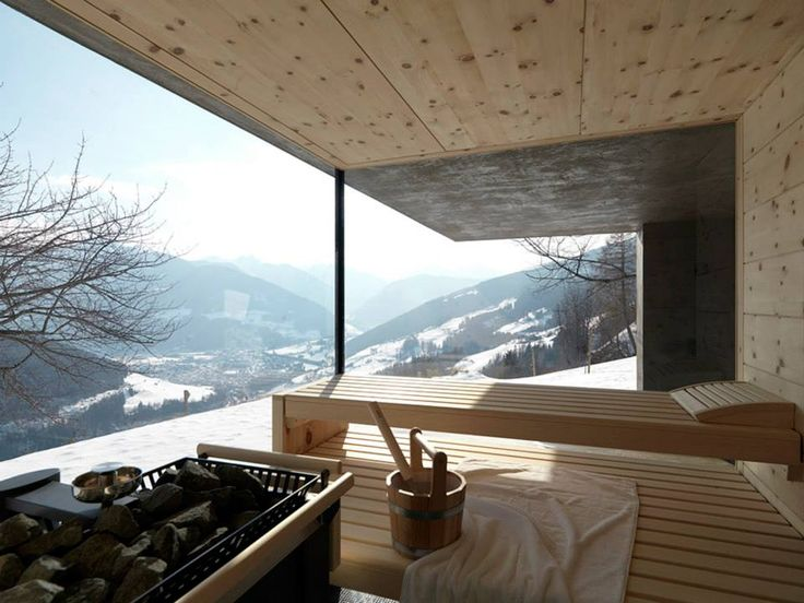 Indoor Sauna, 'Room with a View' House | Photograph: Mads Mogensen