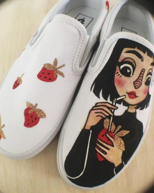Love the shoes that Vans Custom Culture ambassador, Charlavaildesigned!  Vans Custom Culture is back for 2017! Registration is now open for US High Schools. You could win $50k for your art program by designing Vans. Get all of the details atvans.com/customculture