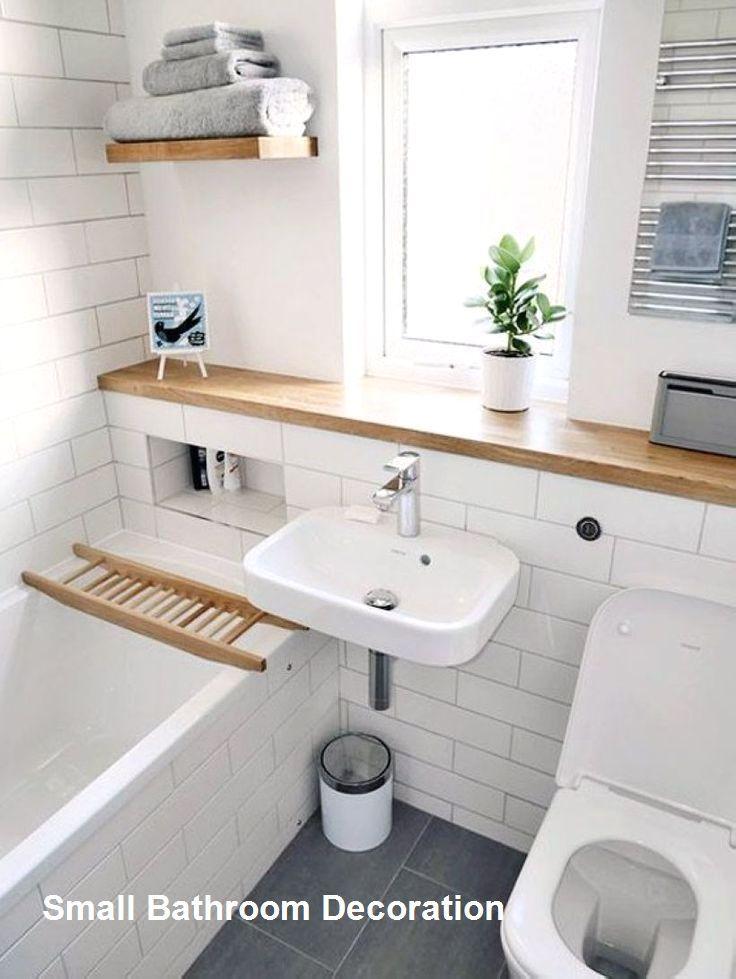 How To Decor A Bathroom Ideas Bathroom Decor With Plants Bathroom Decor Reddit Bathroom Va Badezimmer Klein Kleines Bad Dekorieren Kleine Badezimmer Design
