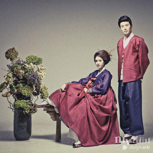Hanbok, korean traditional clothes / 한복 린 / 한복, 색의 미학으로 가을빛을 압도하다 / My wedding