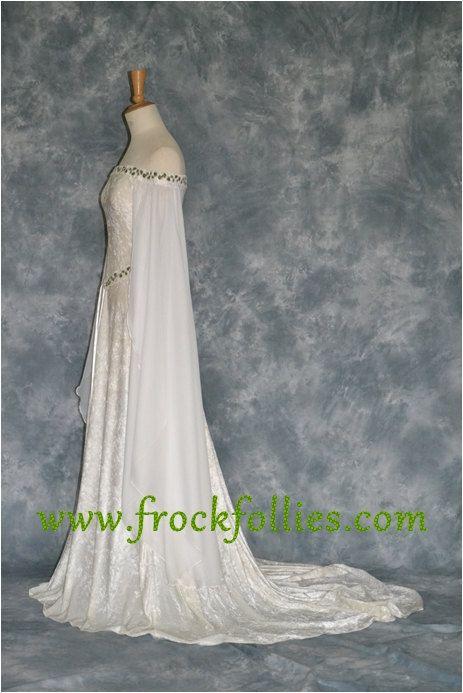 Medieval Dress Elvish Wedding Dress Handfasting Dress
