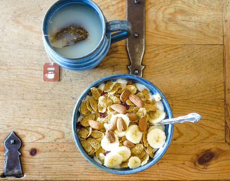 Frukostskål med flingor