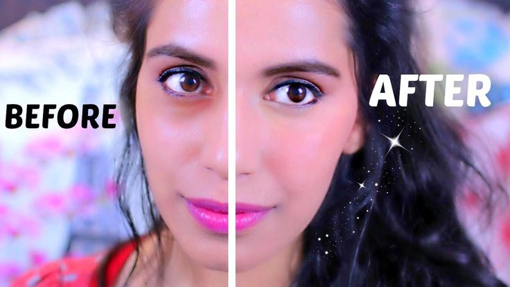 How to Conceal Dark Circles Under Eyes with DIY Salmon Concealer (using NYX Round Lipstick in Haute Melon)