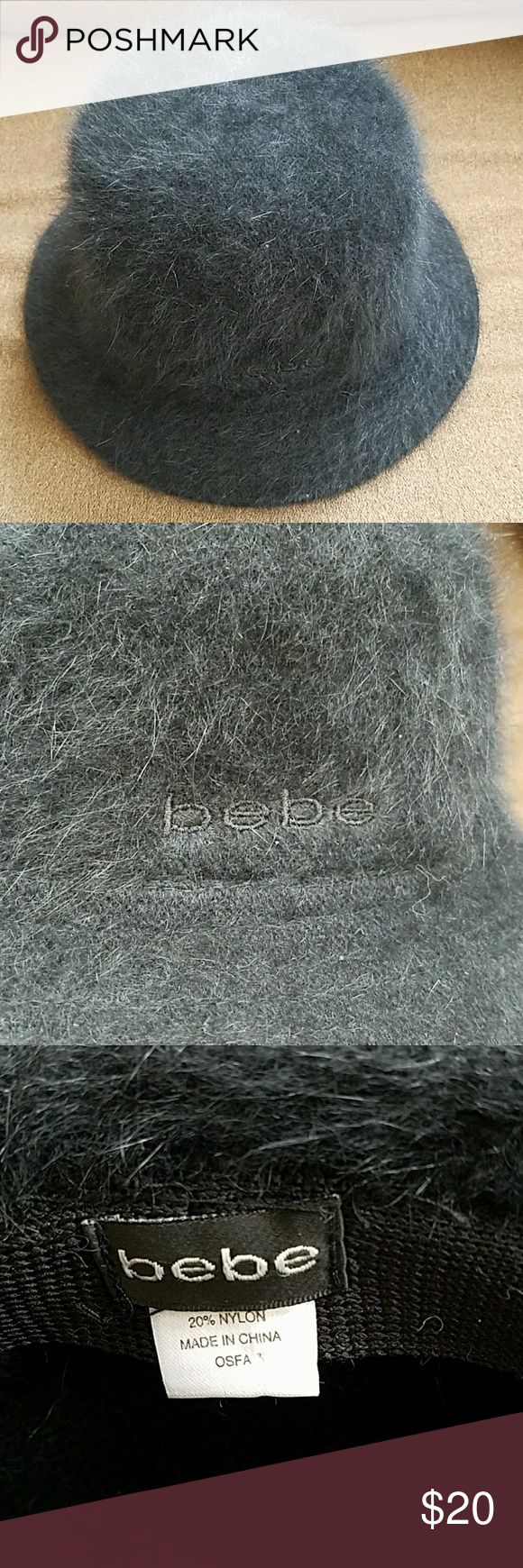 Bebe Faux Fur Hat No rips tears or stains.    80% Angora wool 20% Nylon bebe Accessories Hats