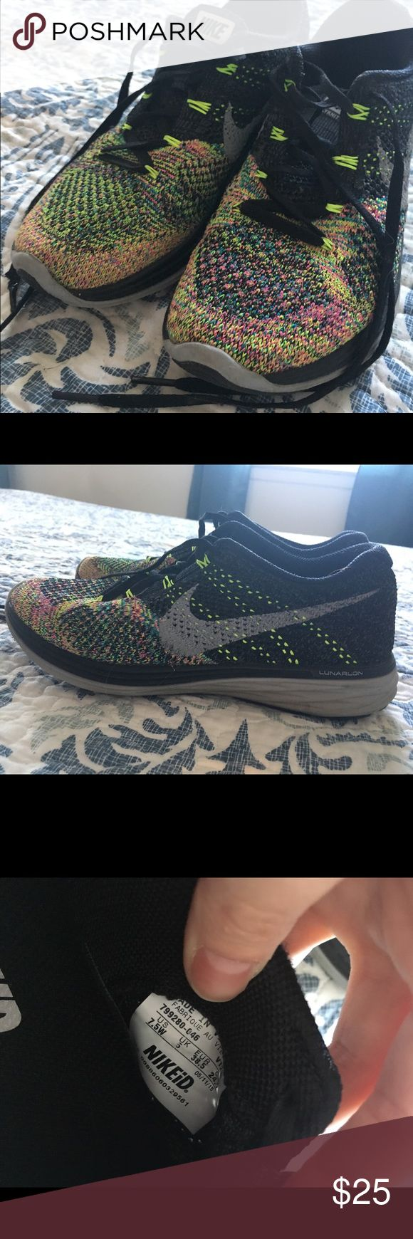 Nike NikeiD Lunarlon Sneakers 7.5 Wide - Colorful NikeiD Sneaker Nike Shoes Athletic Shoes