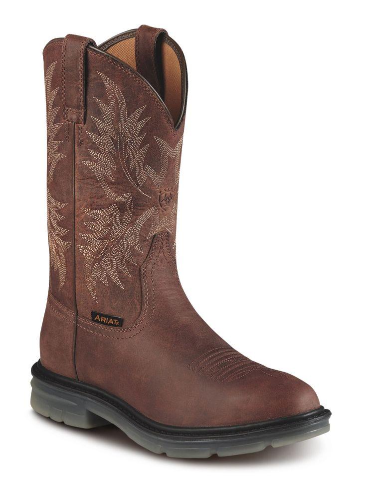 Ariat Maverick Ii Steel Toe Pull-on (men's) - Alamo Brown Full Grain Leather