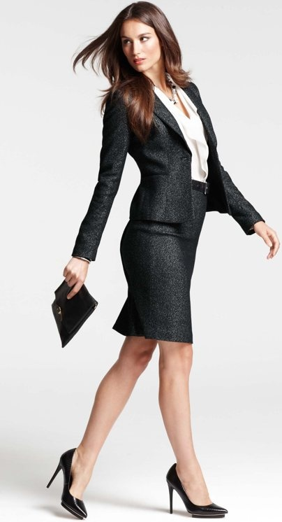 Ann Taylor suits look fantastic on anyone who loves skirted dressing. The professional skirted man is an untapped market.