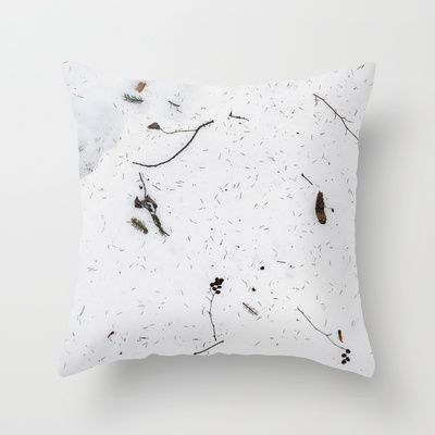 "Throw Pillow / Indoor Cover (16"" X 16"") • 'Snø' • IN STOCK • $20.00 • Go to the store by clicking the item."