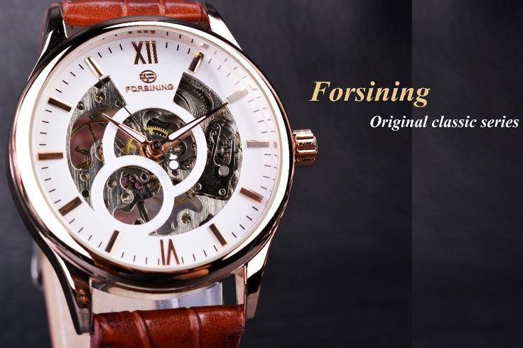 Aliexpress.com : 신뢰할수 있는 시계 젤리 공급업체GMT에서 Forsining 골드 디자인 브라운 남성 시계 최고 브랜드 고급 erkek saat 해골 기계 시계 남성 시계 relogio montre 옴므을 구매합니다.