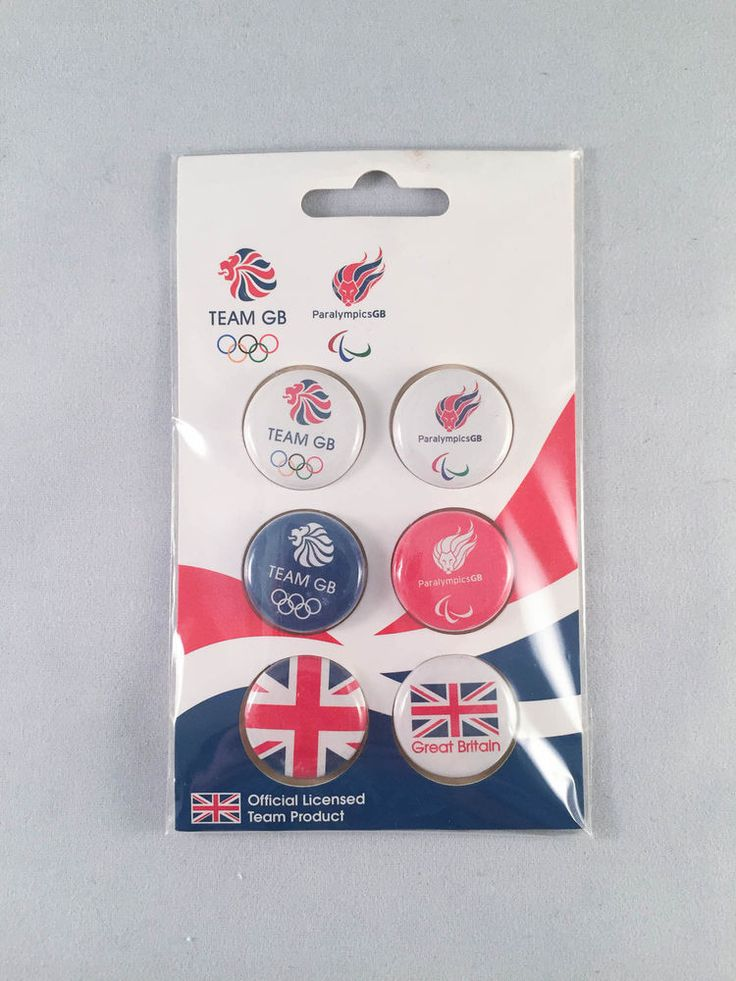 Team Great Britain 2012 Olympics and Paralympics Pinback Buttons – Set of 6 #GreatBritian
