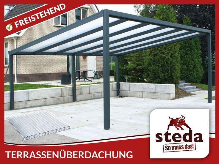 Aluminium Terrassenüberdachung 300x400 Cm Freistehend