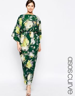 ASOS CURVE Maxi Dress in 70's Floral