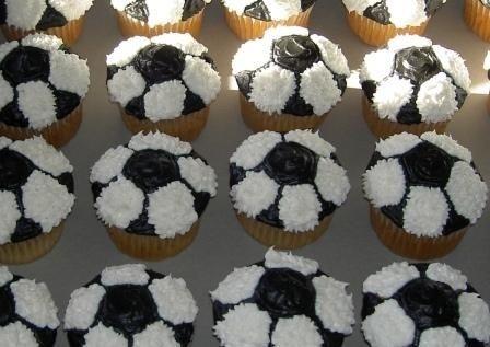 Soccer cupcakes