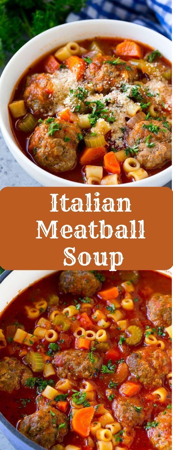 Apr 1, 2020 – Italian Meatball Soup #SOUP #MEATBALL #ITALIAN