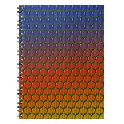 rainbow dragon scales pattern notebook pattern sample design