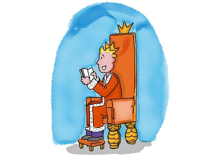 Koning Willem leest