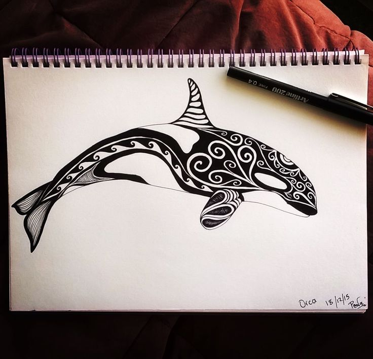 Hiding from my kids having some me time lol  #drawingismytimeout #sealife #art #blackpen #ink #smukdesign #pendrawing #drawing #cerapod #orca #whaledoodles #blackandwhite #tdkpeepshow