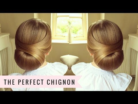 Bridal hairstyle for long hair tutorial. Romantic prom updo - YouTube