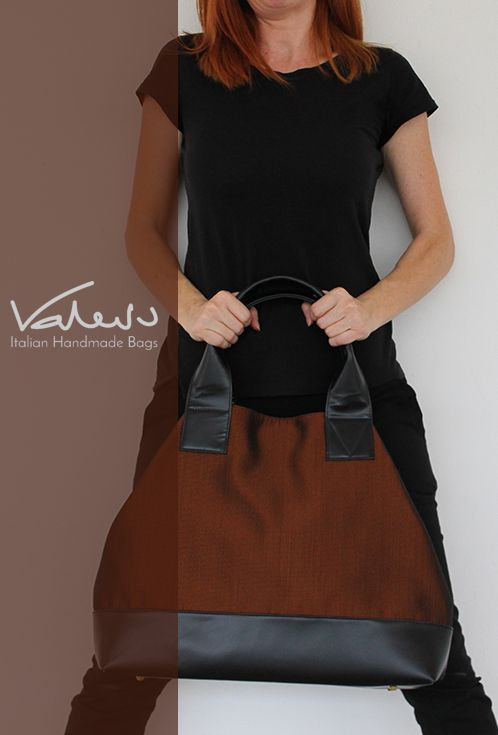 Italian handmade Leather and Canvas tote bags