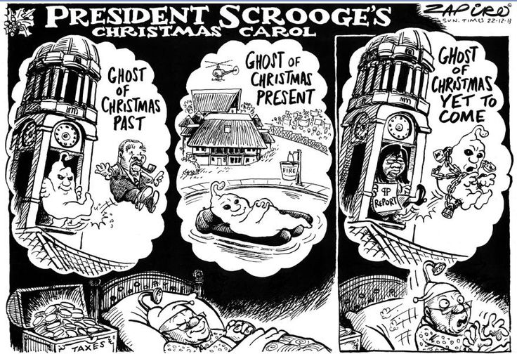 Cartoonist Zapiro traces the battle to compel President Jacob Zuma to repay taxpayer cash spent on his lavish private homestead in Nkandla, KwaZulu-Natal, which began seven years ago and culminated on March 31, 2016, with a Constitutional Court order that he is personally liable to #paybackthemoney