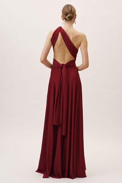 e6e8e44c8b0 Bordeaux Ginger Convertible Maxi Dress