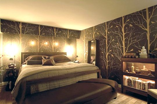 Tree bedroom ideas modern bedroom wallpaper decorating for Tree wallpaper bedroom