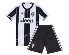 2016/17 Juventus Home White and Black  Soccer Uniform