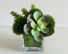 25 best aldik images on pinterest silk floral arrangements silk artificial succulent arrangement faux succulents glass cube mightylinksfo