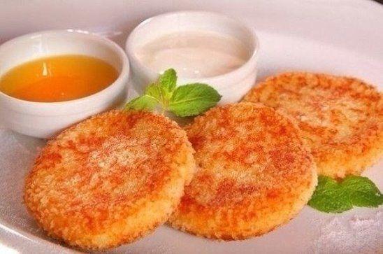 (63) Одноклассники - Морковно-яблочные сырники в ванильном соусе
