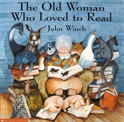 I want to be this woman: nothing to do but read! Great book for little ones too!