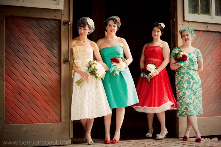 Retro Wedding Love Te Diffe Bridesmaid Dresses In Style Special Day All Over Again Vow Renewal Pinterest