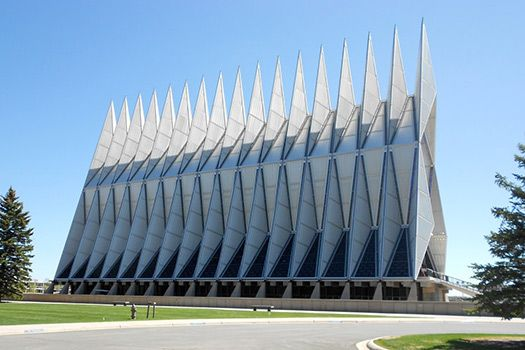 Air Force Academy Chapel - 10 most quirky buildings in the world