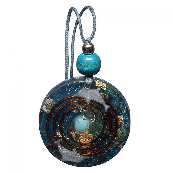 Turquoise Orgonite Pendant