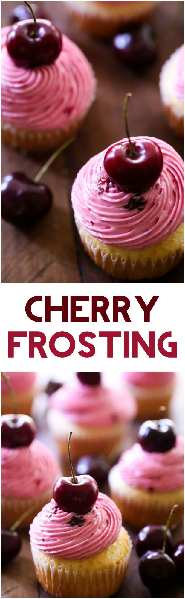 Cherry Frosting... the flavor is absolutely wonderful and is the perfect way to top a cupcake! (chocolate birthday cakes powdered sugar)