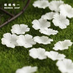 Сен женской линии DIY принадлежности материал Motif моделирования сакуры лепестков белая фотография проп 2.5CM3 Элемент 100